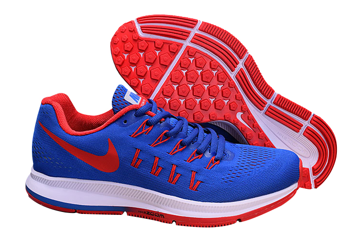 Men's Nike Air Zoom Pegasus 33 Running Shoes Royal Blue/Bright Crimson