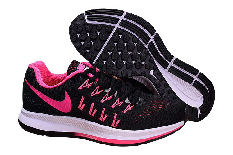 Women's Nike Air Zoom Pegasus 33 Running Shoes Black/Pink
