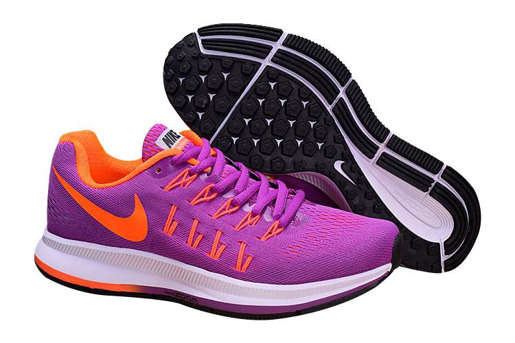 Women's Nike Air Zoom Pegasus 33 Running Shoes Fuchsia/Orange
