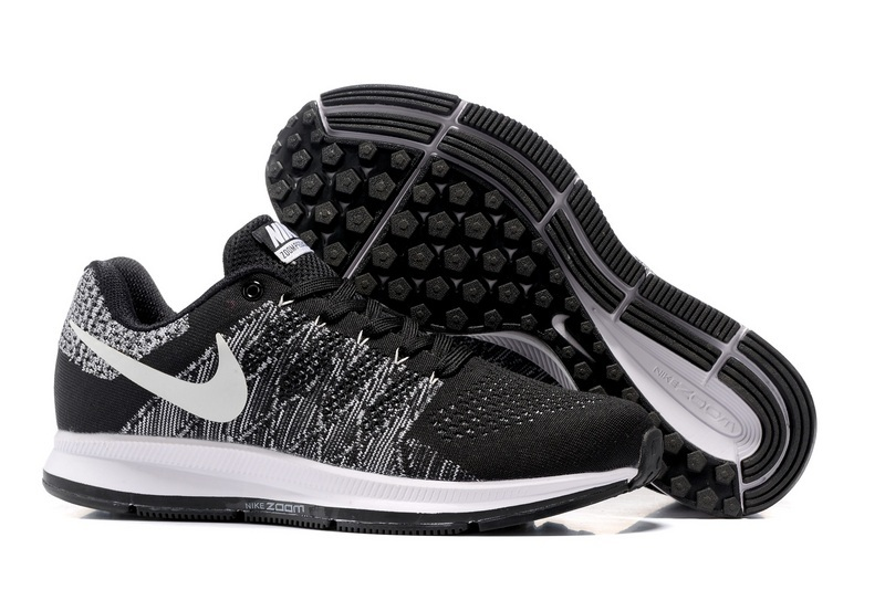 Men's Nike Air Zoom Pegasus 33 Running Shoes Black/White