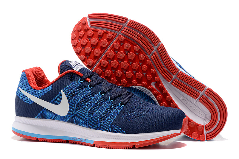 Men's Nike Air Zoom Pegasus 33 Running Shoes Dark Blue/Red/White