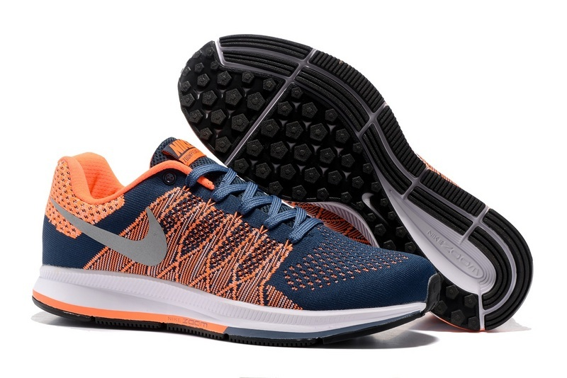 Men's Nike Air Zoom Pegasus 33 Running Shoes Navy/Orange/Silver