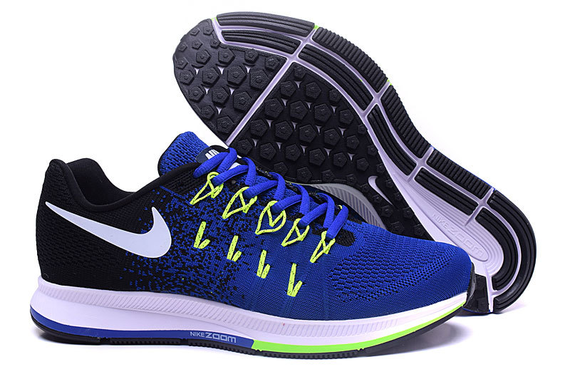 Men's Nike Air Zoom Pegasus 33 Running Shoes Black/Royal Blue/White