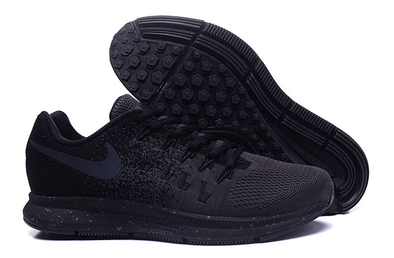 Men's Nike Air Zoom Pegasus 33 Running Shoes Black/Charcoal Grey