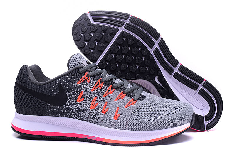 Men's Nike Air Zoom Pegasus 33 Running Shoes Dark Grey/Light Grey/Black