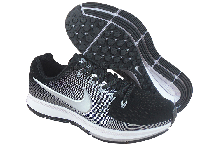 Men's Nike Air Zoom Pegasus 34 Running Shoes Black/Grey