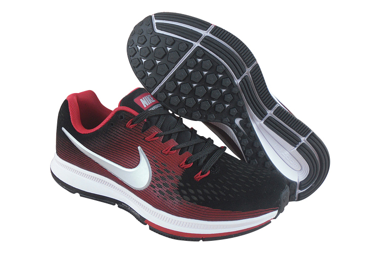 Men's Nike Air Zoom Pegasus 34 Running Shoes Black/Red