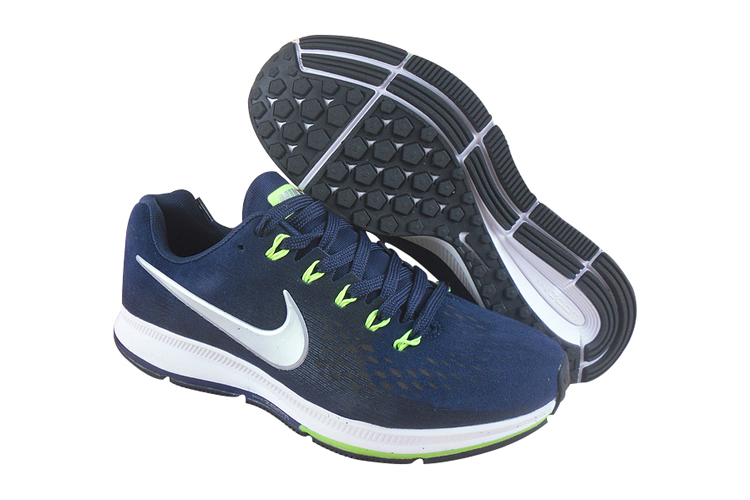 Men's Nike Air Zoom Pegasus 34 Running Shoes Dark Blue/Black