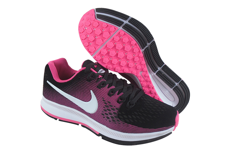 Women's Nike Air Zoom Pegasus 34 Running Shoes Black/Pink