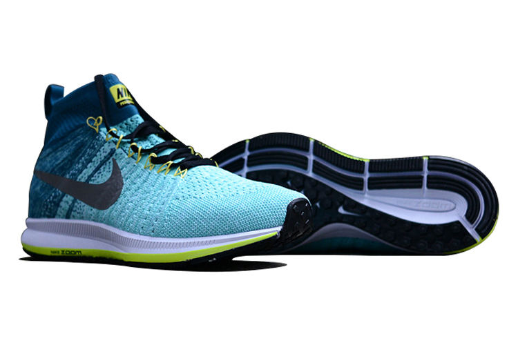 Men's Nike Air Zoom Pegasus All Out Flyknit Running Shoes Light Blue/Lake Blue/Grey