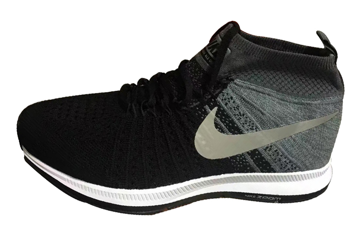 Men's Nike Air Zoom Pegasus All Out Flyknit Running Shoes Black/Wolf Grey/Pure Platinum/White