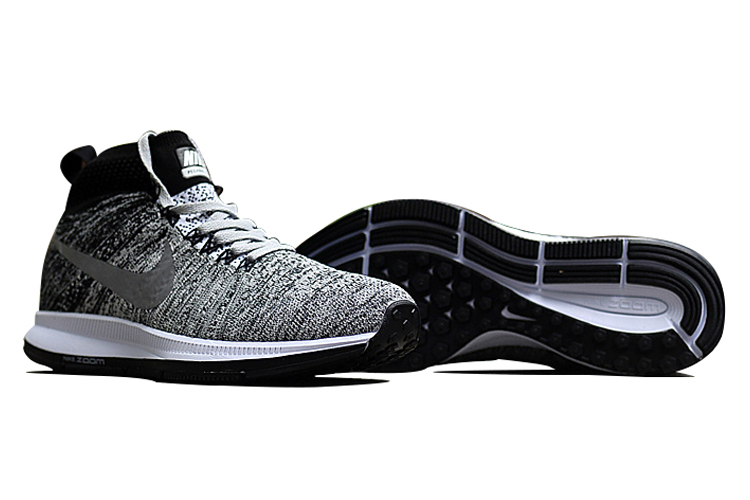 Men's Nike Air Zoom Pegasus All Out Flyknit Running Shoes Wolf Grey/Black/Pure Platinum/White