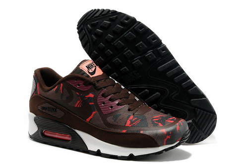 Wmns Nike Air Max 90 Prem Tape Sn Men Red And Brown Running Shoes Sweden