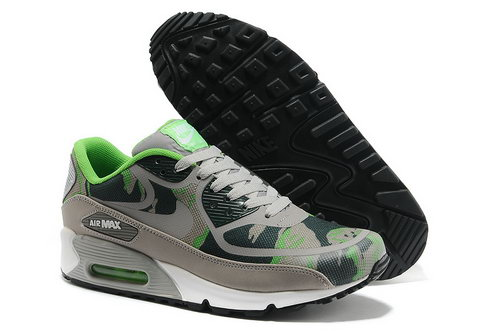 Wmns Nike Air Max 90 Prem Tape Sn Unisex Gray And Green Sports Shoes For Sale