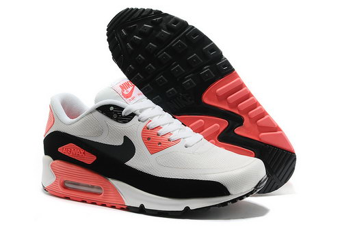 Wmns Nike Air Max 90 Prem Tape Sn Unisex White And Pink Sports Shoes Online Store