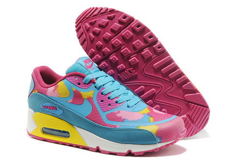 Wmns Nike Air Max 90 Prem Tape Sn Women Blue And Pink Running Shoes Outlet Store