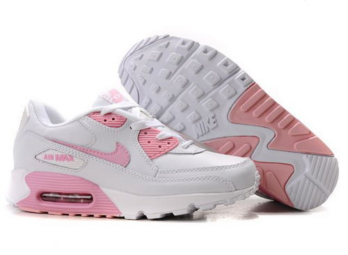 Womens Air Max 90 All White Pink Greece