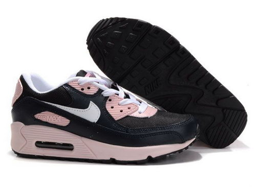 Womens Air Max 90 Black White Pink Reduced