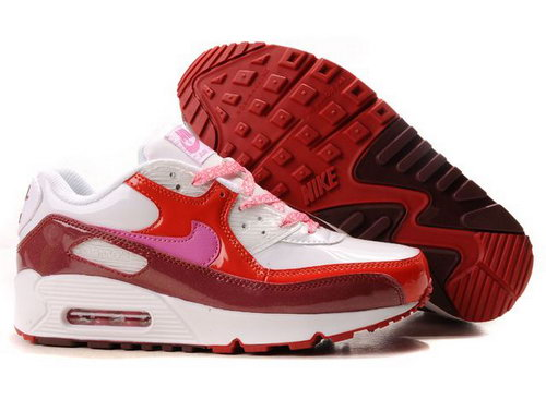 Womens Air Max 90 Red White Wine Factory