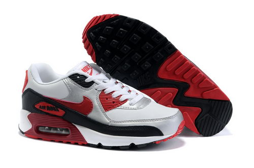 Womens Air Max 90 White Red Black Coupon
