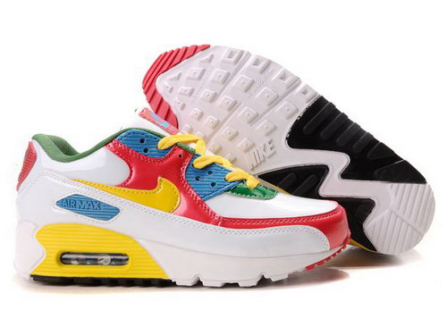 Womens Air Max 90 Yellow White Red Sweden