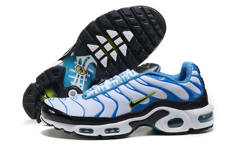 Men's Nike Air Max TN Shoes Black Blue White
