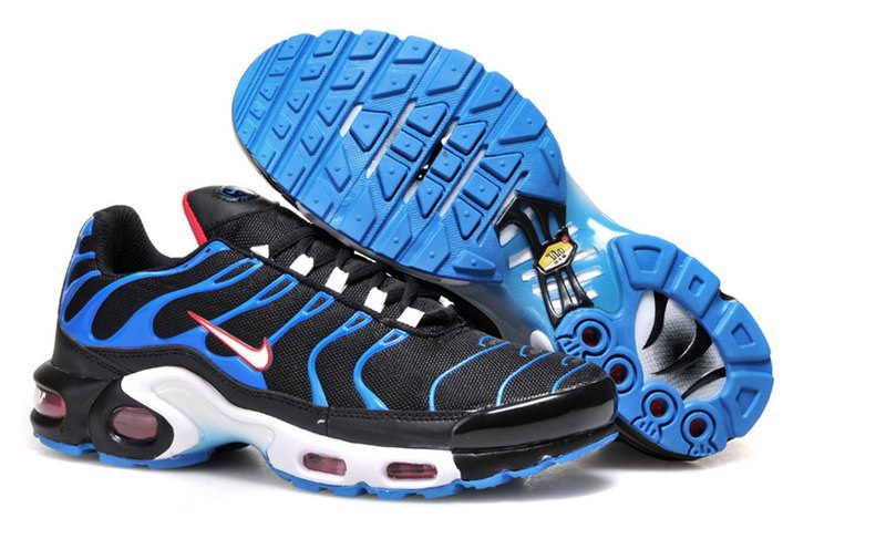 Men's Nike Air Max TN Shoes Black Blue