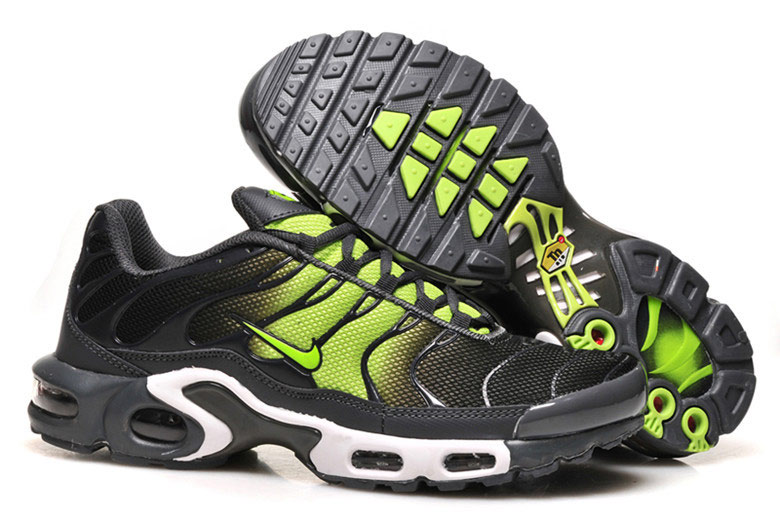 Men's Nike Air Max TN Shoes Black Fluorescent Green