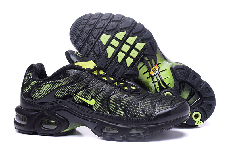 Men's Nike Air Max TN Shoes Black Green