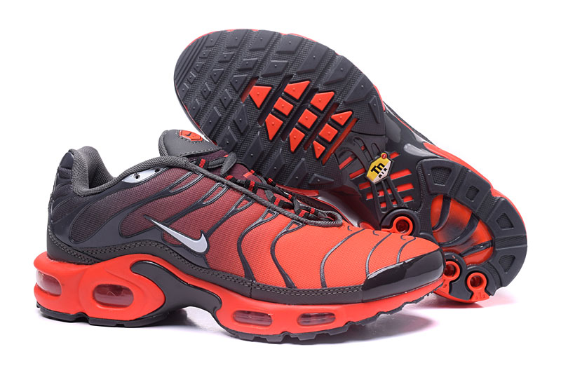 Men's Nike Air Max TN Shoes Black/Grey/Orange/White