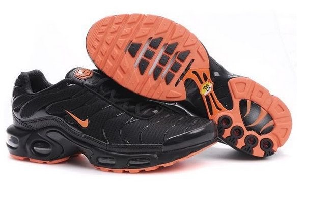 Men's Nike Air Max TN Shoes Black Orange