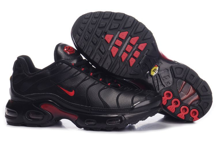 Men's Nike Air Max TN Shoes Black Red