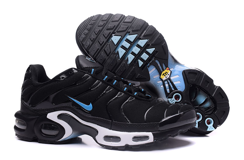 Men's Nike Air Max TN Shoes Black/White/Blue