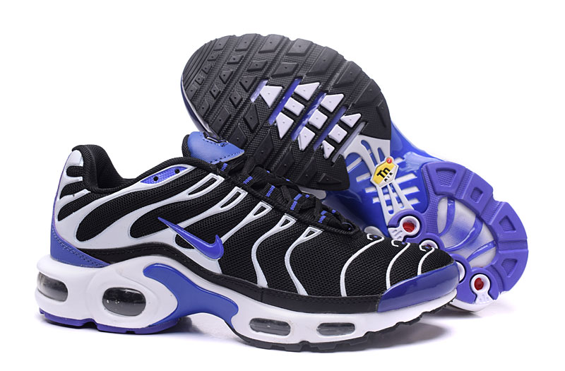 Men's Nike Air Max TN Shoes Black/White/Purple