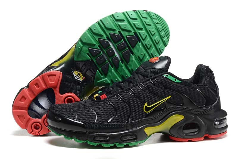 Men's Nike Air Max TN Shoes Black Yellow Green Red