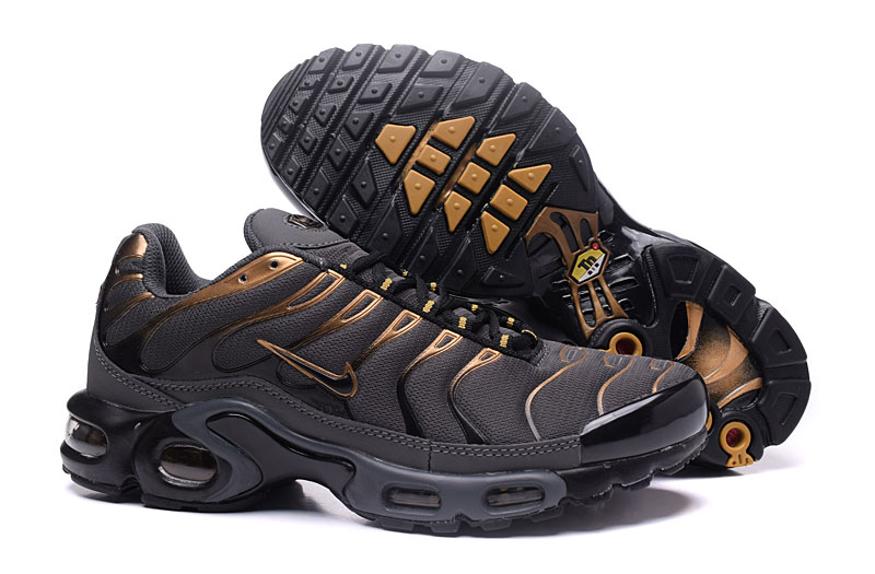 Men's Nike Air Max TN Shoes Coral Grey/Gold/Black