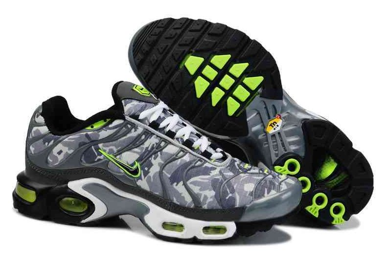 Men's Nike Air Max TN Shoes Grey Green White