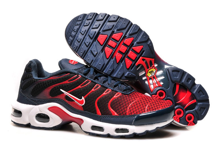 Men's Nike Air Max TN Shoes Navy Black Red