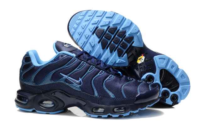 Men's Nike Air Max TN Shoes Navy Blue Black