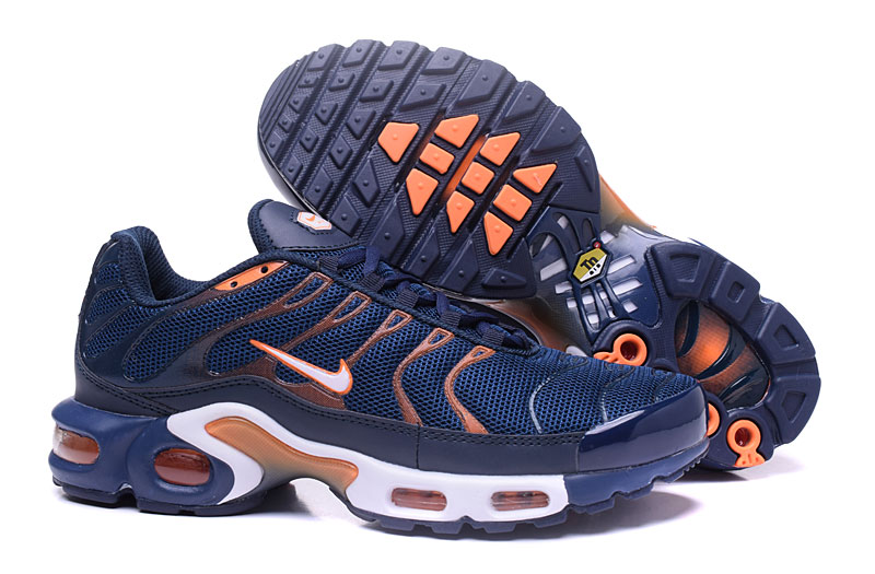 Men's Nike Air Max TN Shoes Navy/Gold/Orange/White