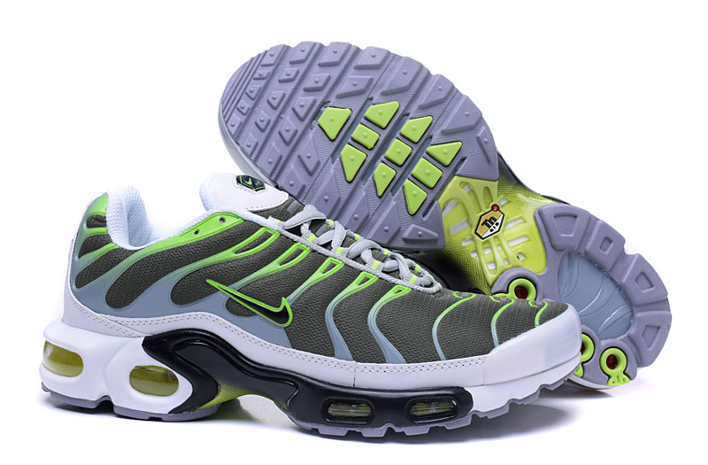 Men's Nike Air Max TN Shoes Olive/Green/White