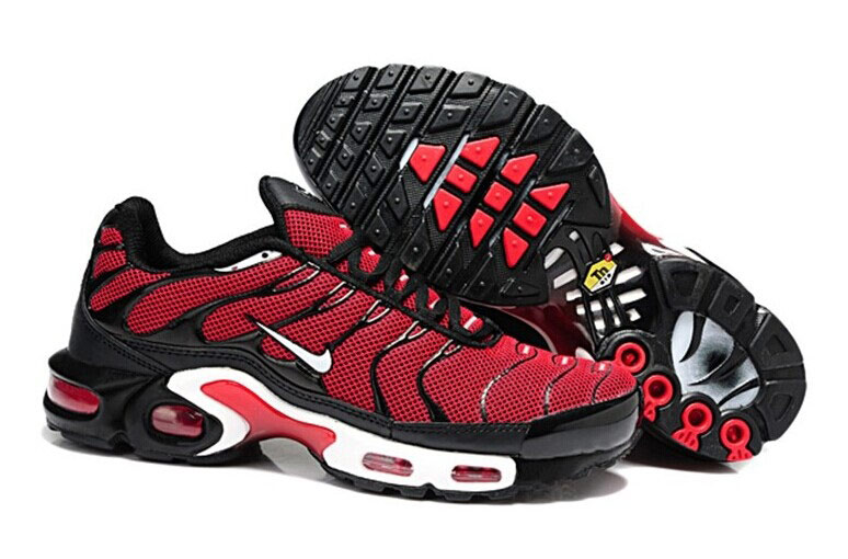 Men's Nike Air Max TN Shoes Red Black White