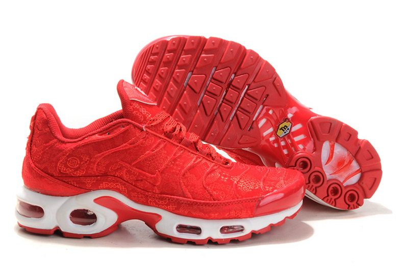 Men's Nike Air Max TN Shoes Red White