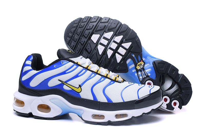 Men's Nike Air Max TN Shoes White/Blue/Orange