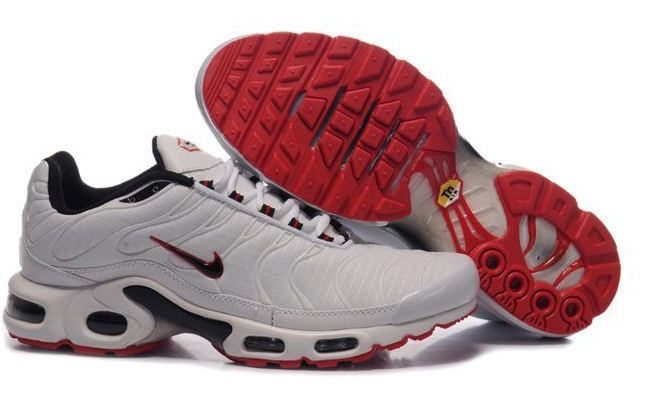 Men's Nike Air Max TN Shoes White Red