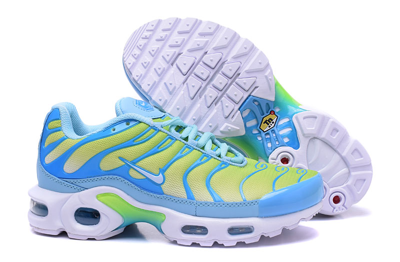 Men's/Women's Nike Air Max TN Shoes Blue/Yellow/White