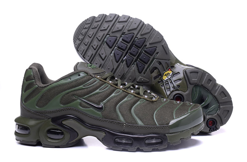 Men's/Women's Nike Air Max TN Shoes Olive Green/Grey
