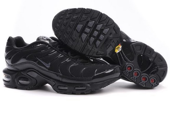 Women's Nike Air Max TN Shoes Black/Grey