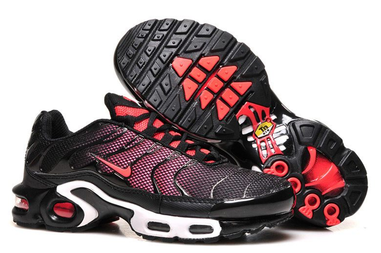 Women's Nike Air Max TN Shoes Black Red