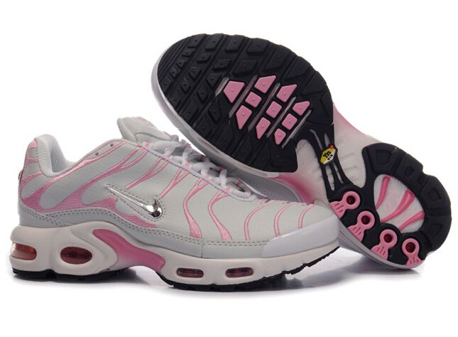 Women's Nike Air Max TN Shoes Grey Pink White